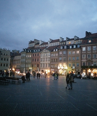 Poland old town square
